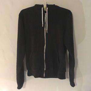 American Apparel zip up hoodie color specks